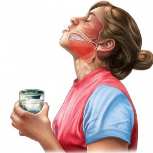 Ангина полоскание антисептиками