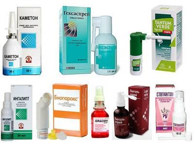 Средства от боли в горле с антибиотиками