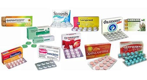 Таблетки при боли в горле
