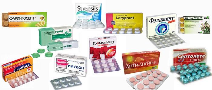 У ребенка красное горло, лечение таблетками