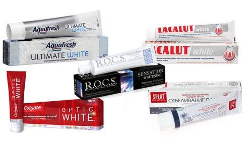 Зубные пасты с отбеливающим эффектом